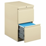 HON® Efficiencies Mobile Pedestal File w/Two File Drawers,  22-7/8''D,  Putty [HON33823RL-FS-NAT]