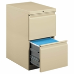HON® Efficiencies Mobile Pedestal File w/Two File Drawers - 22-7/8d - Putty [HON33823RL-FS-NAT]