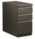 HON® Flagship Mobile Box/Box/File Pedestal,  Full Radius Pull,  28.875''D,  Charcoal [HON18730RS-FS-NAT]