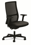 HON® Ignition Series Mesh Mid-Back Work Chair,  Black Fabric Upholstered Seat [HONIW103NT10-FS-NAT]