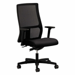HON® Ignition Series Mesh Mid-Back Work Chair - Black Fabric Upholstered Seat [HONIW103NT10-FS-NAT]