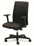 HON® Ignition Series Mid-Back Work Chair,  Black Fabric Upholstery [HONIW104NT10-FS-NAT]