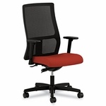HON® Ignition Series Seating Mesh Mid-Back Work Chair,  Poppy Fabric Upholstered Seat [HONIW103CU42-FS-NAT]