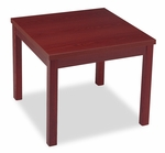 HON® Laminate Occasional Table,  Square,  24''W x 24''D x 20''H,  Mahogany [HON80192NN-FS-NAT]