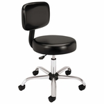 HON® Medical Exam Stool with Back - 24-1/4 x 27-1/4 x 36 - Black [HONMTS11EA11-FS-NAT]