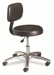 HON® Medical Exam Stool with Back,  24.25''W x 27.25''D x 36''H,  Black [HONMTS11EA11-FS-NAT]