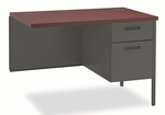 HON® Metro Classic Series Workstation Return - Right - 42w x 24d - Mahogany/Charcoal [HONP3235RNS-FS-NAT]