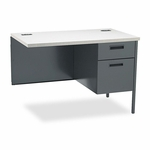 HON® Metro Classic Workstation Return - Right - 42w x 24d - Gray Patterned/Charcoal [HONP3235RG2S-FS-NAT]