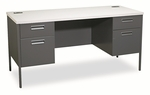 HON® Metro Series Kneespace Credenza,60''W x 24''D x 29.25''H,Gray Patterned/Charcoal [HONP3231G2S-FS-NAT]