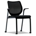 HON® Nucleus Series Multipurpose Chair,  Black Ilira-Stretch M4 Back,  Black Seat,  Black [HONN606NT10-FS-NAT]