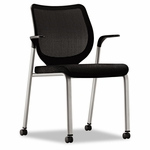 HON® Nucleus Series Multipurpose Chair,  Black Ilira-Stretch M4 Back,  Black Seat,  Platinum [HONN606NT10T1-FS-NAT]