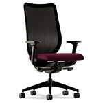 HON® Nucleus Series Work Chair - Black ilira-stretch M4 Back - Wine Seat [HONN103NT69-FS-NAT]