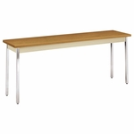 HON® Utility Table - Rectangular - 72w x 18d x 29h - Harvest/Putty [HONUTM1872CLCHR-FS-NAT]