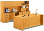 Honey 9 Piece Executive Office Set [ML341-HONEY-FS-MAR]