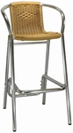 Honey Rattan Aluminum Patio Barstool [7016-HND]