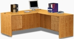 Honey Simple Workstation with Hanging Pedestals [ML351-HONEY-FS-MAR]