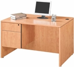 Honey Single Pedestal Desk [ML359-HONEY-FS-MAR]