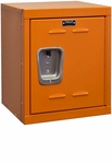 Hoop Orange Kids Mini Locker Unassembled - 15''W x 15''D x 24''H [HKL1515-24-1HP-HAL]