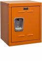 Hoop Orange Kids Mini Locker Unassembled - 15''W x 15''D x 24''H