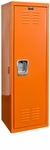 Hoop Orange Kids Standard Locker Unassembled - 15''W x 15''D x 48''H [HKL151548-1HP-HAL]