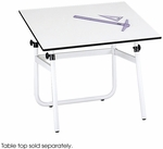 Horizon 31.50'' W x 26.50'' D x 29'' H Adjustable Height Drawing Table Base - White [3961-FS-SAF]