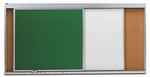 Horizontal Sliding 2 Track Unit with 2 Green Porcelain Chalkboard Panels - 48''H x 144''W [HSU412-2C-AA]