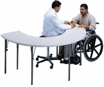 Horseshoe Therapy Table - 48''W X 72''L X 26 - 34''H [HAU-6674-FS-HAUS]