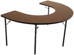 Horseshoe Folding Adjustable Feeding and Activity Table- 48''W x 72''L x 26/34''H [AF6001-AMTB]