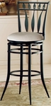 Hudson Metal 30'' Bar Height Stool with Stone Faux Suede Swivel Seat - Black [4506-830-FS-HILL]