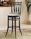 Hudson Metal 26'' Counter Height Stool with Stone Faux Suede Swivel Seat - Black [4506-826-FS-HILL]