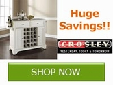 Huge savings on Crosley Kitchen Islands!!