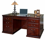 kathy ireland Home™ Huntington Collection 68.25''W x 29''H Double Pedestal Executive Desk -Vibrant Cherry [HCR680-FS-KIMF]