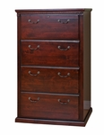 kathy ireland Home™ Huntington Collection 33.75''W x 53.25''H Four Drawer Lateral File -Vibrant Cherry [HCR454-FS-KIMF]