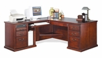 kathy ireland Home™ Huntington Collection L Shaped Workstation with Left Return -Vibrant Cherry [HCR684L-HCR684L-R-FS-KIMF]
