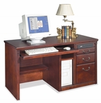 kathy ireland Home™ Huntington Collection 55.5''W x 29''H Single Pedestal Computer Desk -Vibrant Cherry [HCR540-FS-KIMF]
