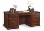 kathy ireland Home™ Huntington Collection 68.25''W x 29''H Double Pedestal Executive Desk - Burnish [HO680-B-FS-KIMF]