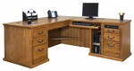 kathy ireland Home™ Huntington Collection L Shaped Workstation with Right Return -Wheat [HO684RW-HO684R-RW-FS-KIMF]