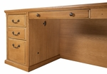 kathy ireland Home™ Huntington Collection L Shaped Workstation with Right Return -Wheat [HO6841R-W-HO6841R-R-W-FS-KIMF]