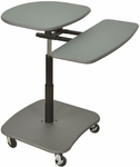 Adjustable Height Computer Workstation with Keyboard Shelf - Gray - 31.5''W x 29''D x 30''- 37''H [LAMC3037-FS-LUX]