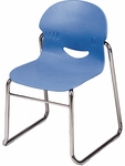 I.Q. Series Sled Base Stack Chair with 15.5''H Seat - 18''W x 17.87''D x 27.38''H [264615-VCO]
