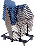 I.Q. Series Stack Chair Cart - 23.38''W x 35''D x 23.813''H [HCT2646-VCO]