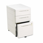Iceberg Aspira Mobile Under desk Pedestal File - Resin - Box/Box/File Drawer - Platinum [ICE95213-FS-NAT]