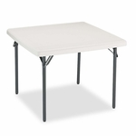 Iceberg IndestrucTables Too 1200 Series Resin Folding Table - 37w x 37d x 29h - Platinum [ICE65273-FS-NAT]