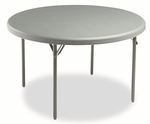 Iceberg IndestrucTables Too™ 1200 Series Resin Folding Table,48'' dia x 29''H,Charcoal [ICE65247-FS-NAT]