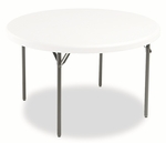 Iceberg IndestrucTables Too™ 1200 Series Resin Folding Table,  48'' dia x 29''H,  Platinum [ICE65243-FS-NAT]