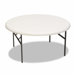 Iceberg IndestrucTables Too 1200 Series Resin Folding Table - 60 dia x 29h - Platinum [ICE65263-FS-NAT]