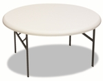 Iceberg IndestrucTables Too™ 1200 Series Resin Folding Table,  60'' dia x 29''H,  Platinum [ICE65263-FS-NAT]