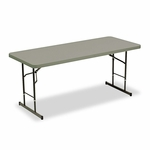 Iceberg Adjustable Height Tables - 72w x 30d x 25-35h - Charcoal [ICE65627-FS-NAT]
