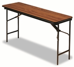 Iceberg Premium Wood Laminate Folding Table,  Rectangular,  60''W x 18''D x 29''H,  Oak [ICE55275-FS-NAT]