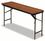 Iceberg Premium Wood Laminate Folding Table,  Rectangular,  72''W x 18''D x 29''H,  Oak [ICE55285-FS-NAT]